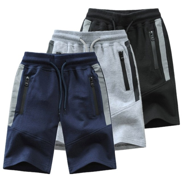 2019 New Summer Kids Boys Knitted Shorts Patchwork Striped Soft Cotton Sporty Shorts For Teenagers Big Boys 2-14 Years Wear 1