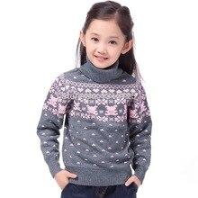 Nuovo 2019 Dei Bambini del Maglione di Autunno della Molla Cardigan Delle Ragazze Dei Bambini del Collo della Tartaruga Maglie e Maglioni Alla Moda della ragazza di Stile della tuta sportiva pullover