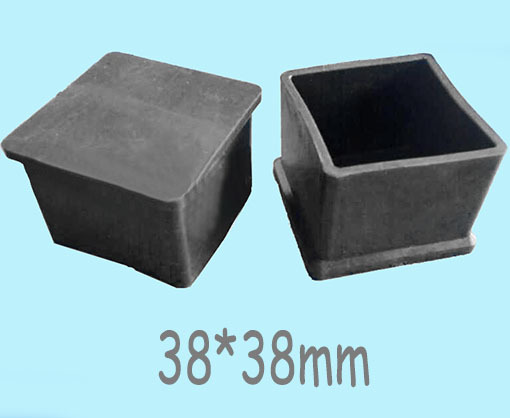 38 38mm Square Tube Cap Plastic Feet Cover Folding Bed