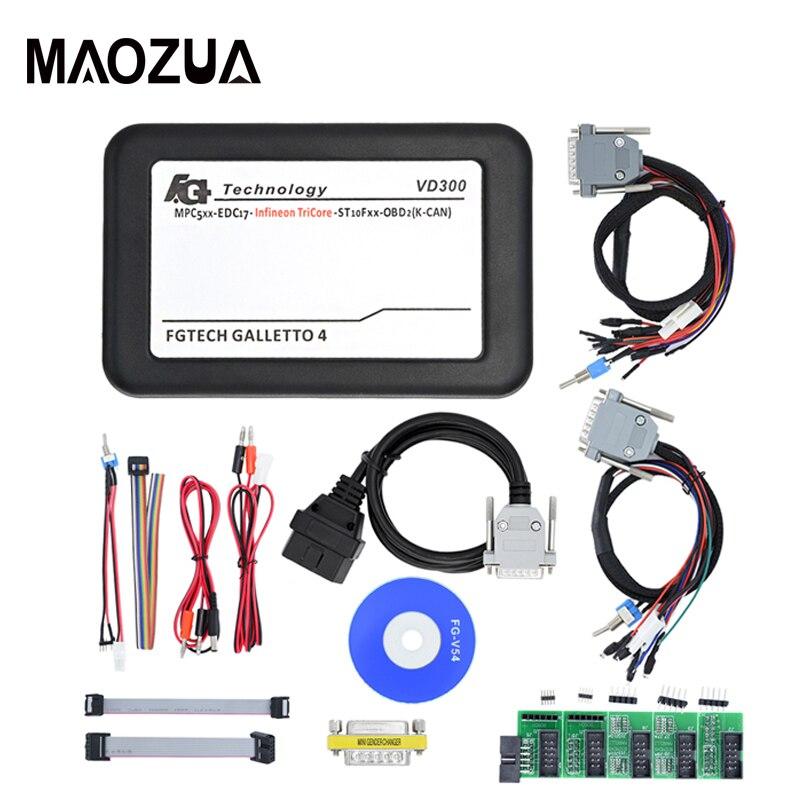 Maozua VD300 V54 FGTech Galletto 4 Master Fg tech BDM-tricor-obd avec fonction BDM réglage de la puce ECU