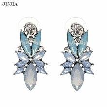 Atacado 2020 mulheres fábrica atacado brincos de declaração na moda jóias elegante cristal brilhante brincos para mulher