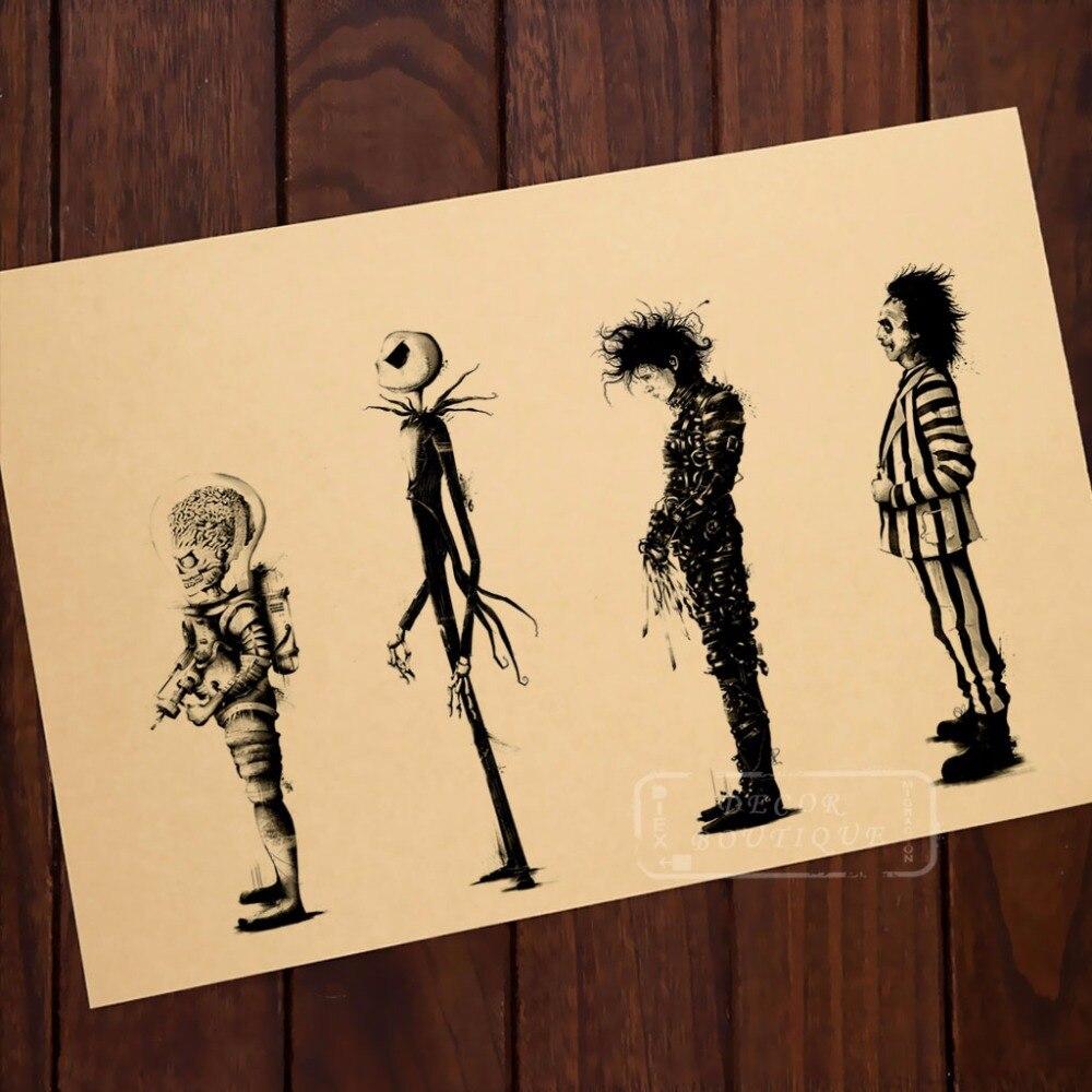 Online Shop Tim Burton Movie Beetlejuice Edward Scissorhands Movie ...