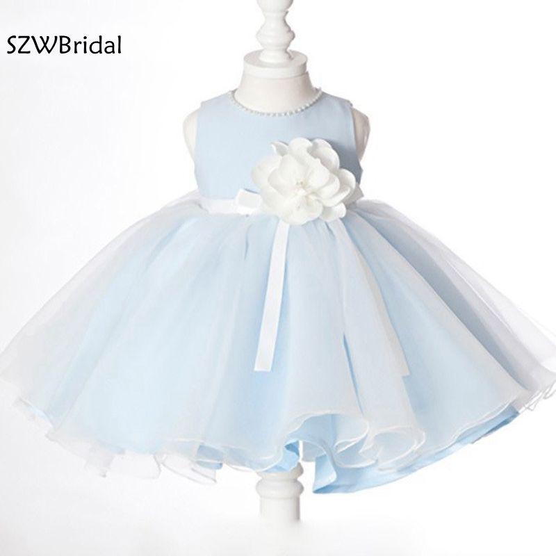 Vestidos de primera comunion High Neck Short   flower     girl     dresses   2019   flower     girl     dress   Party first communion   dresses   for   girls