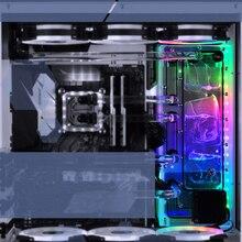 BYKSKI акриловая доска Воды Канала решение использовать для LIAN LI O11 динамический чехол для Процессор и GPU Блок/3PIN RGB/Combo DDC насос