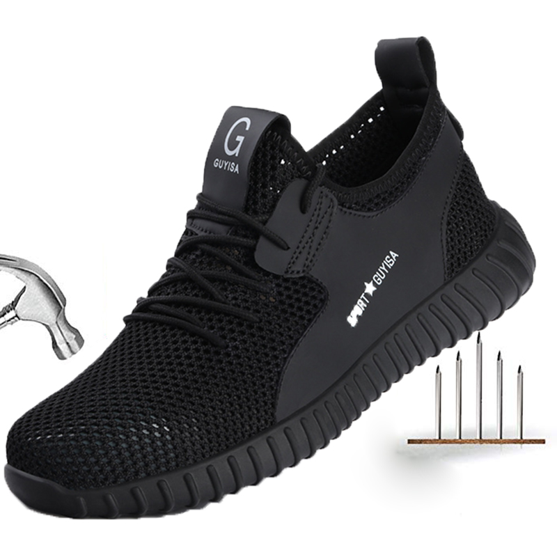 New Men Safety Shoes Breathable Men Sneakers Outdoor Steel Toe Shoes Work Safety Boots Puncture Proof Boots Indestructible Shoes