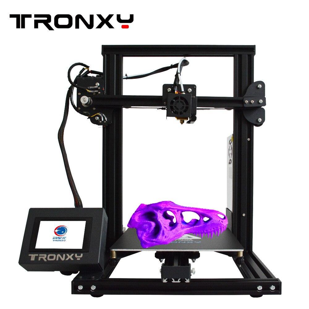 Imprimante 3D Tronxy XY-2 imprimante de bureau 3D kit de bricolage buse de haute précision avec écran tactile écran tactile Support TF carte Interface USB
