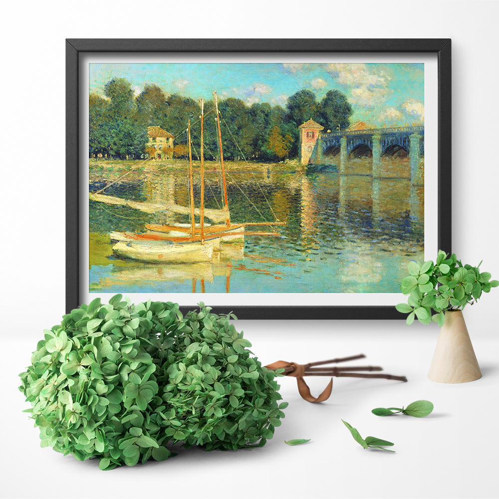 Boats On The River Art Poster Canvas Prints Claude Monet Abstract Art Wall Art Canvas Painting Home Decor No Frame