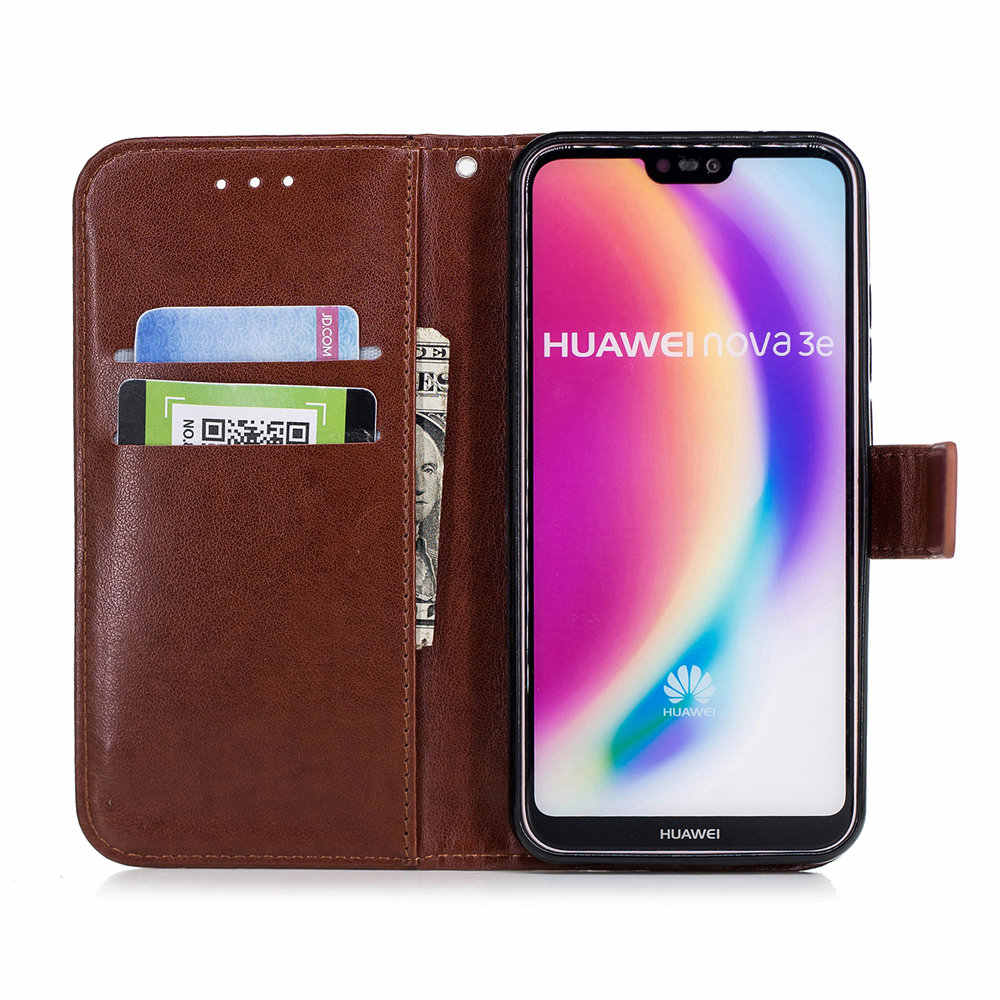 Plum Flower Texture Embossed Flip Book Case for Huawei P20 P30 Pro Nova 3 3i P Smart 2019 Honor 10 Mate 20 Lite With Hand Rope