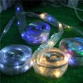 LEDGOO 40 LED 6W 4M String Butterfly Knot Light Ribbon RGB String Butterfly Light LED Battery Box Power Supply Decoration Party