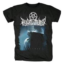 Bloodhoof thy arte é assassinato metal duro deathcore preto manga curta camiseta tamanho asiático