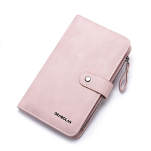Womens wallet long fashion passport bag multifunction mobile phone card brand luxury jewelry leather