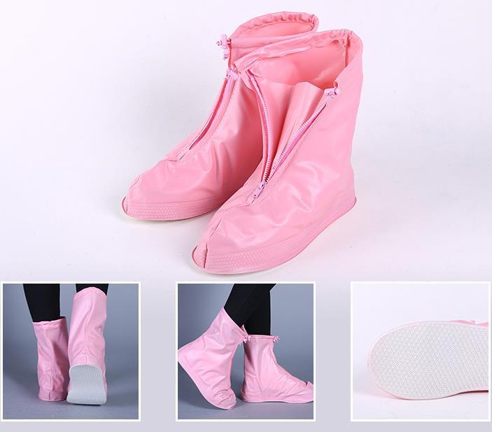 Zapatos cubierta de la lluvia de la nieve calzado antideslizante Rosa Más P4vaiaNwv