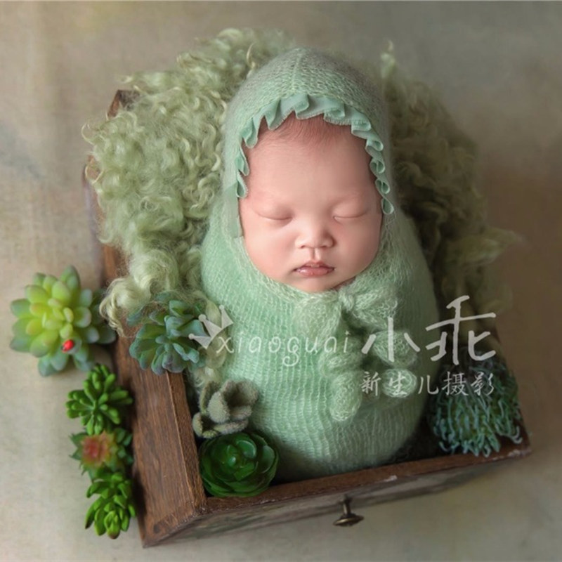 Newborn Baby Photography Props,sleeping Sack,handmade Mohair Lace Sleeping Bag With Long Knot Tassel,newborn Photography Props