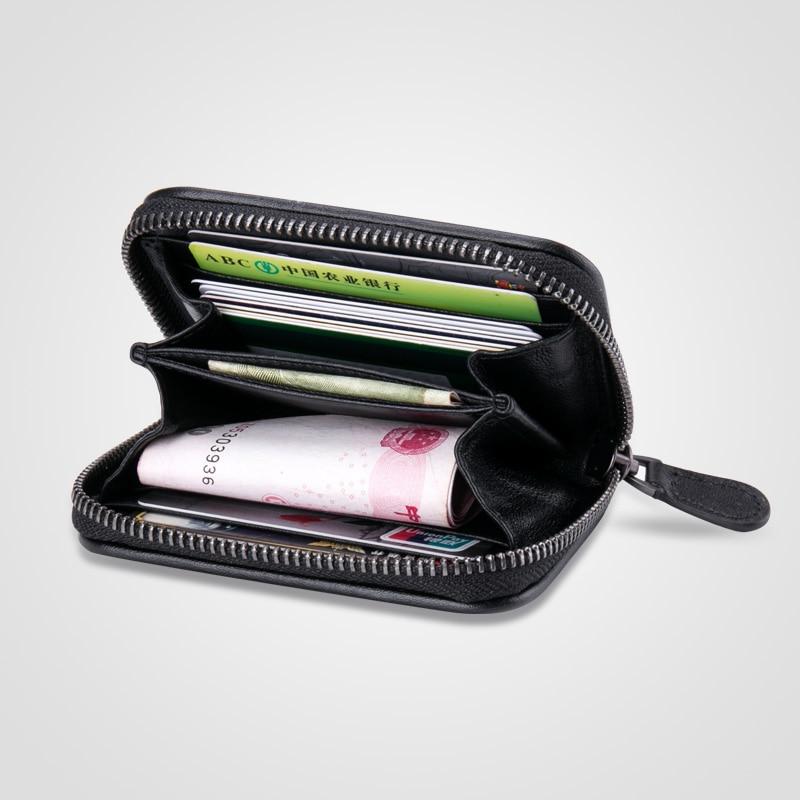 Image 5 - Sheepskin Handmade Weave Wallet Zipper Card Pack Women MiNi Coin Purse Genuine Leather ID Holders Women Walletswomen walletsweave walletwallet zipper -