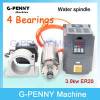220V 3 0 KW Water Cooled Spindle Motor ER20 3kw VFD Variable Frequency Driver 100mm Spindle