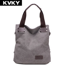 KVKY Fashion Women messenger bags ladies Canvas Bag Vintage Handbag Bucket Causal big Bags Travel Shoulder Crossbody bags bolsas