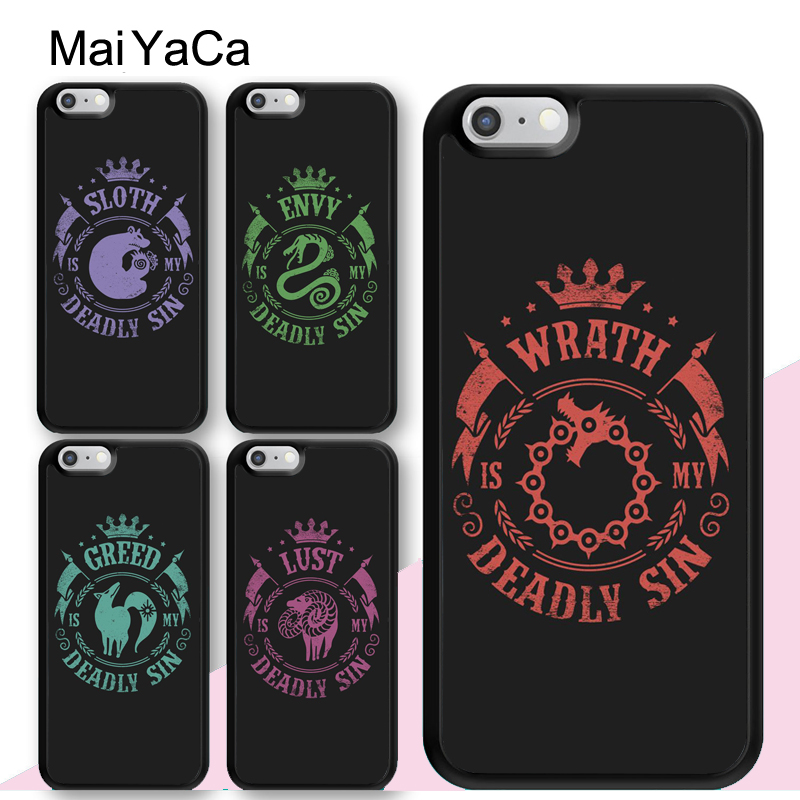 MaiYaCa seven deadly sins Style Soft Rubber Phone Cases For iPhone 6 6S 7 8 Plus XS Max XR 5S SE Back Cell Housing Cover in Fitted Cases from Cellphones Telecommunications
