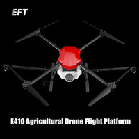 The Newest EFT E410 Waterproof Agricultural Spraying Drone Flight Platform