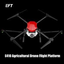 The newest EFT E410 10KG / 10L waterproof agricultural spraying drone flight platform