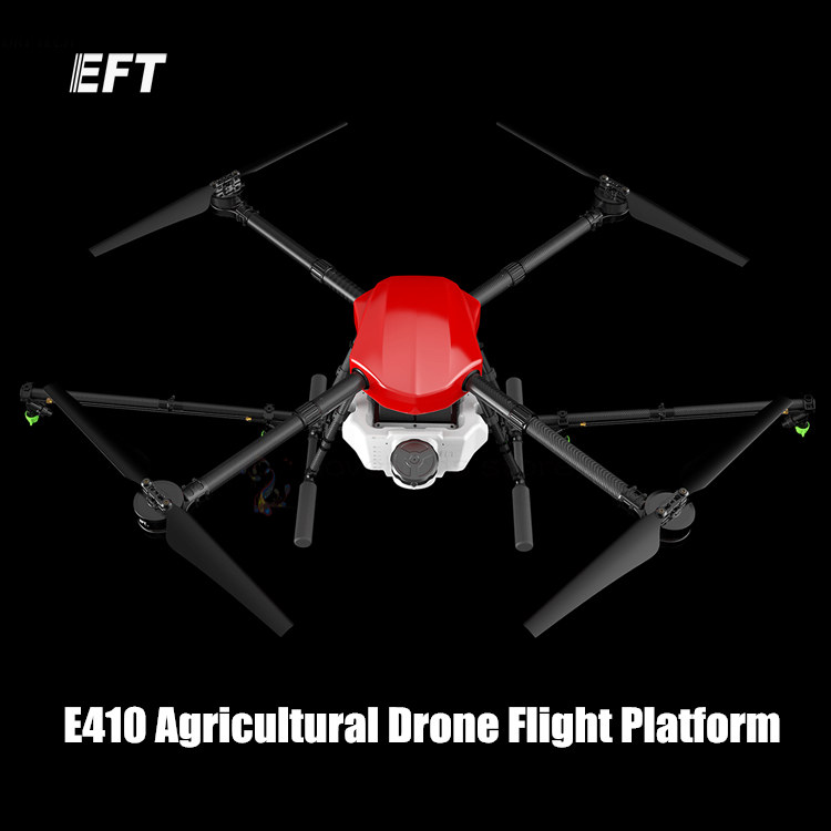 The newest EFT E410 waterproof agricultural spraying drone flight platform складной измерительный угольник truper eft 8 14382