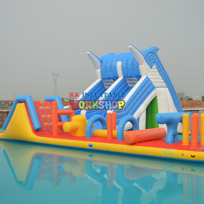 Sea World Octopus Jurassic Inflatable Dinosaur Water Park, Giant Outdoor Inflatable Fun City Playground For Sale