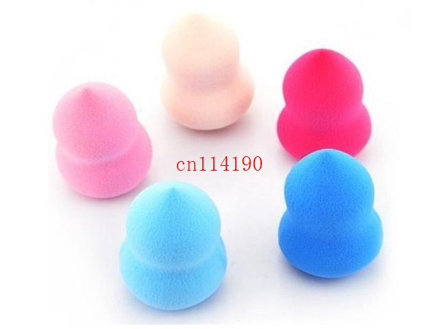 100pcs DHL Fedex 32 46mm Sponge Powder Puff Water Droplets Shape Smooth Professional Makeup Clean Blender
