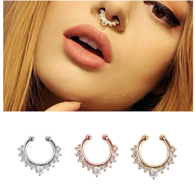 Buy new arrival alloy nose hoop nose for Types of body jewelry rings
