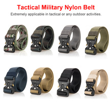 Nylon belt casual men buckle training outdoor rock climbing practical camouflage multi - color