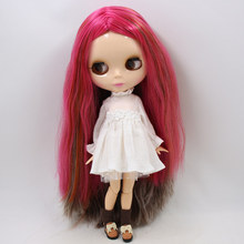 ICY Neo Blythe Doll Rose Grey Hair Jointed Body 30cm