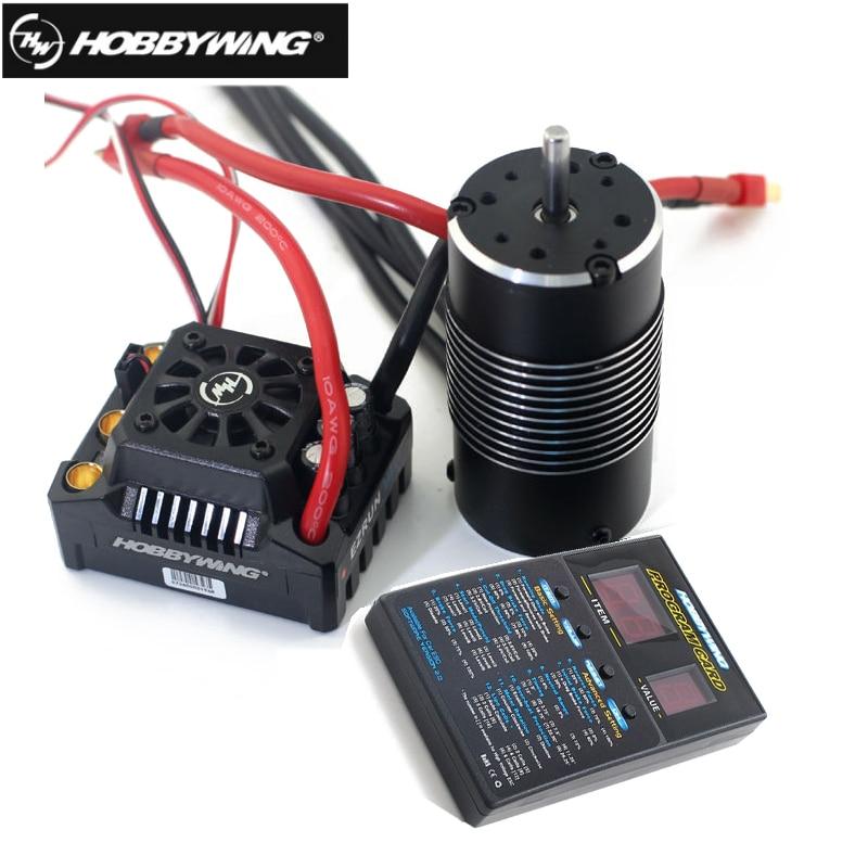 Hobbywing EzRun Max8 v3 150A impermeable sin escobillas ESC T/TRX macho + 4274 2200KV Motor + LED programación para 1/8 RC coche camión