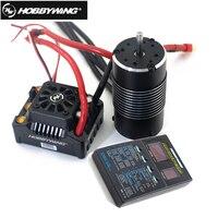 Hobbywing ezrun max8 v3 150a impermeável sem escova esc t/trx plug + 4274 2200kv motor + programação led para 1/8 rc caminhão de carro