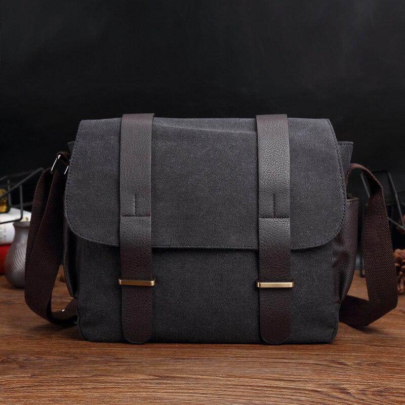 d3b3854ce34 Kopen Goedkoop Nieuwe Mannen Canvas Handtassen Vintage Crossbody  Schoudertassen Casual Grote Capaciteit Mannen Messenger Bags Riem 13 inch  Laptop Tassen ...