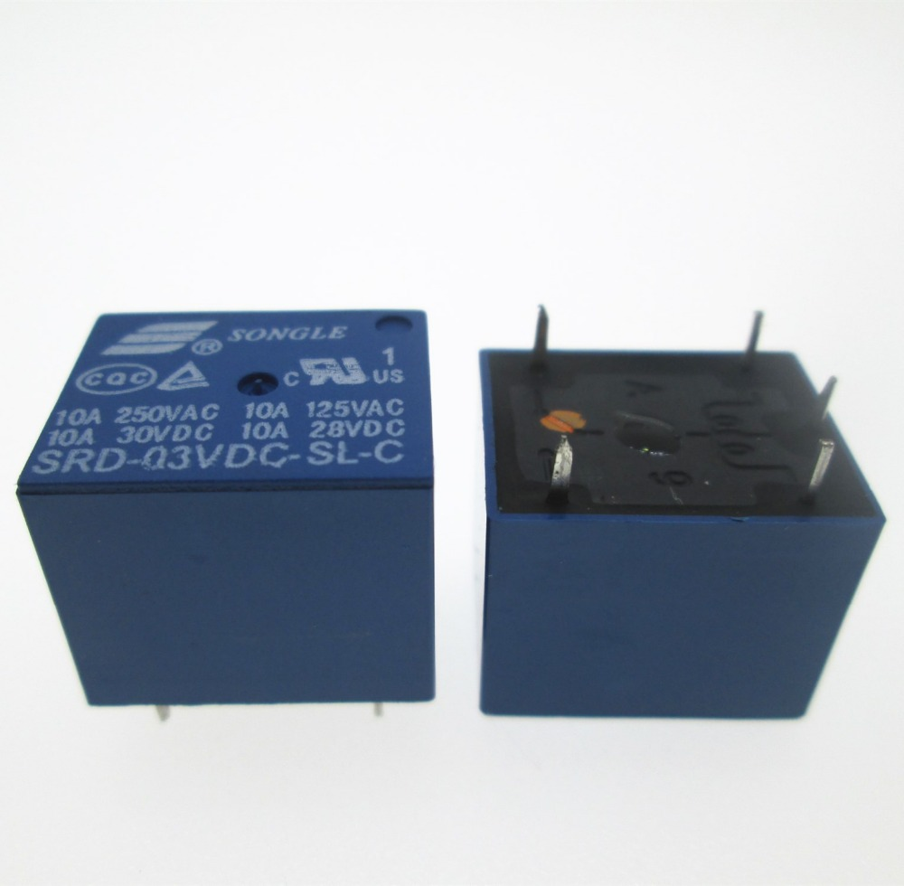 цена на HOT NEW 3V relay SRD-03VDC-SL-C SRD-03VDC SRD 03VDC-SL-C 3VDC 10A 250VAC T73 SONGLE DIP5