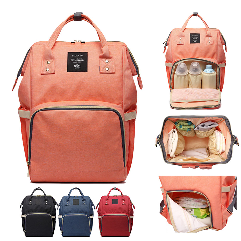 Fashion Mummy Maternity Nappy Bag Diaper Bags Large Capacity Baby Travel Backpack Designer Nursing Stroller For Wet Bag