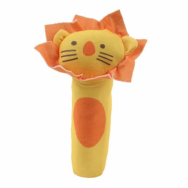 Hilittlekids 2019 Cute Baby Animal Pattern Cartoon Hand Bell Ring Rattles Kid Plush Soft Baby Toys