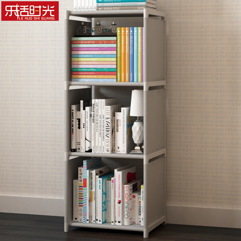 Simple Nonwoven Fabric Bookshelf Multi-functional Closet Storage Cabinet Folding Assembled Exquisite Book Shelf for home decor