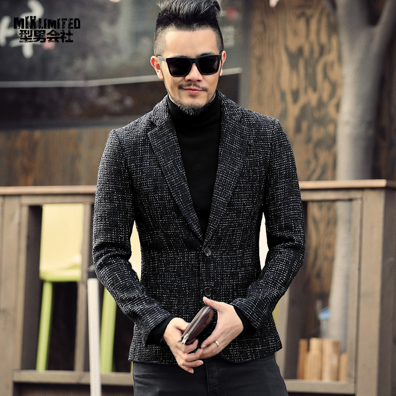 Spring Autumn New Men's Fashion Casual Suit Jacket Men Single-breasted Casual Suits Blazer Clothes For Man
