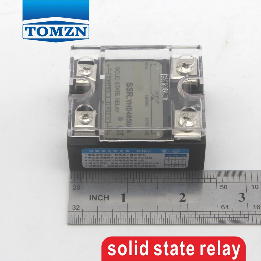 75da Ssr Control 3 32v Dc Output 12240vac Single Phase Ac Solid State Relay Z240d10