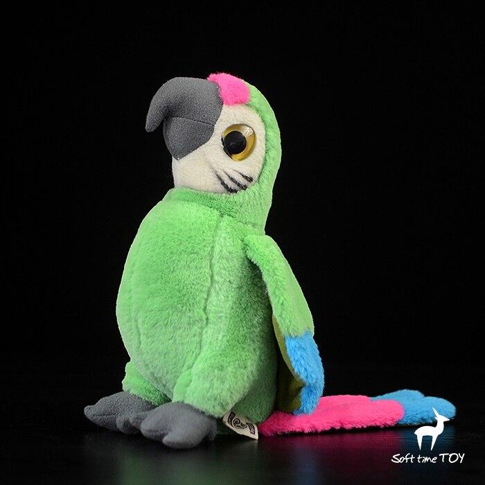 Peluche perroquet poupée jouet gros yeux vert Macaw vraie vie animaux rares jouets en peluche accessoires pour la maison