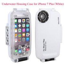 Meikon EasyDive 40m/130ft Waterproof Underwater Housing Case for iPhone 7 Plus,White Waterproof Case Cover for iPhone 7 Plus powder case for iphone 7 plus
