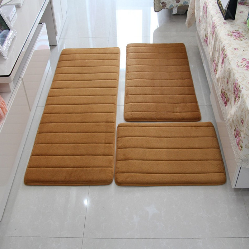 3pcsset memory foam bath mat rugmodern floor antisilp bathroom rugs - Bathroom Carpet
