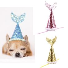 Dog Hat Pet Birthday Party Cosplay Decorative Fish-tail Costume Dog Supplies For Small Dogs Best Gift For Dog Beauty
