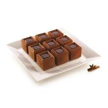 SHENHONG 28 полость паз куб форма для торта силиконовая форма для выпечки, форма для духовки Шоколадные инструменты Кондитерские сковороды украшения