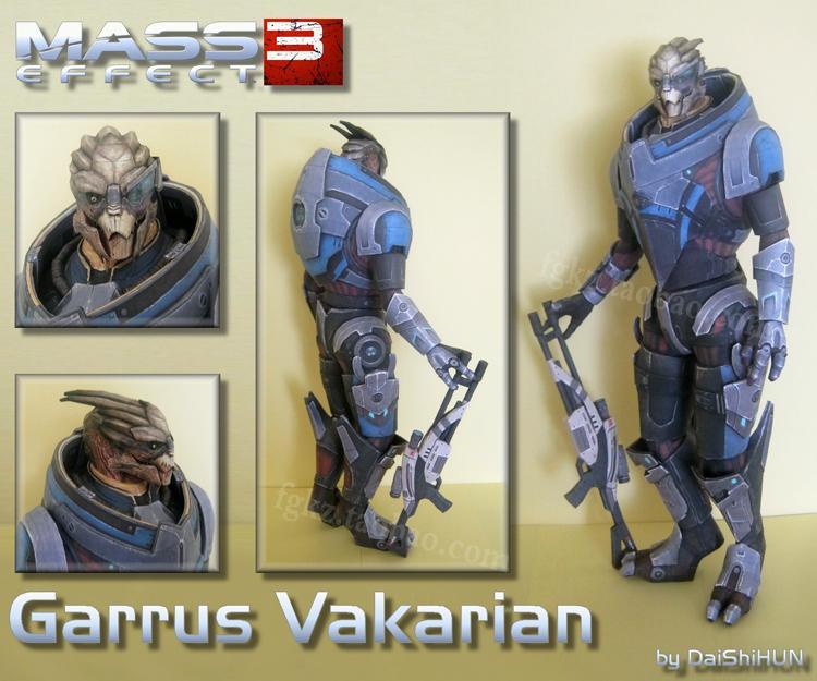 Mass Effect 3 Garrus Vakarian 3D Paper Model