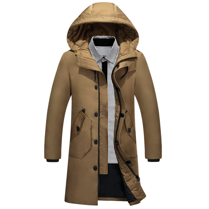 Men longen   down   Jacket Male Outdoor   Down     Coat   new casual camel hooded Mens Autumn Winter Outerwear Thicken clothing 2019