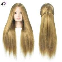 Учебные головы-манекены 65 см светлые длинные волосы профессиональные невесты Парикмахерские Манекен Куклы хорошие синтетические густые волосы манекен головы