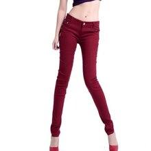 Aliexpress горячая стиль Sexy Гарун женские Джинсы новые джинсы Конфеты цвет ног 21 цвета карандаш джинсы