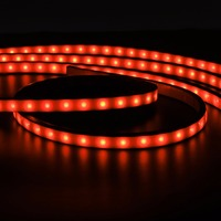 Mayitr 4pcs Car RGB LED Strip Light Under Car Tube Underglow Underbody Neon Light System Kit