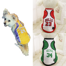 Fashion Pets Vest Coat Basketball Teams Dog T-Shirt Spring Summer Top Quality For Small Middle Large Dogs Clothes size XS to 6XL