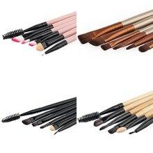 Eye Makeup Brushes Professional Makeup Brush Set Cosmetics Eyeliner Eyeshadow Make Up Tools Brush Kits Women Lady Beauty 6PCS TF